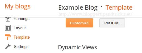 Template Edit HTML