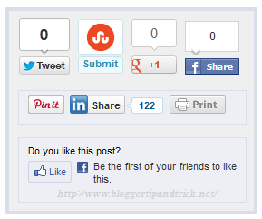 Perfect Share Box for Blogger Blogs