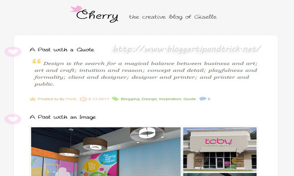 Cherry Premium Blogger Template