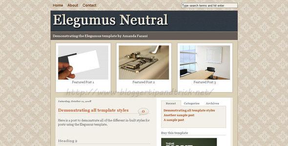 Elegumus Premium Blogger Template