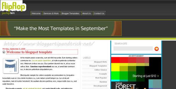 FlipFlop Blogger Template