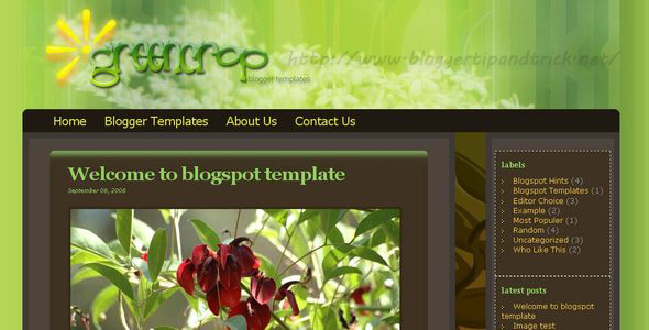 Greencrop Blogger Template