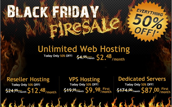 HostGator Black Friday Sales