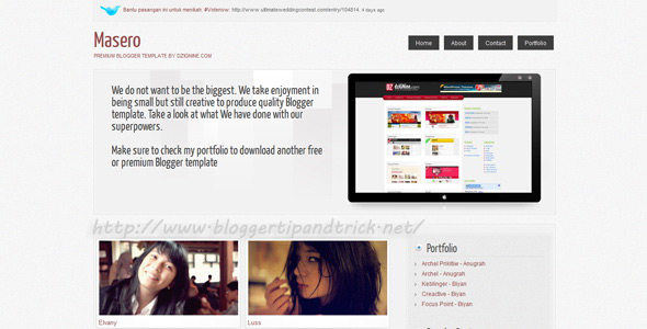 Masero Premium Blogger Template