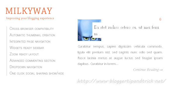 Milkyway Premium Blogger Template