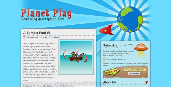 Planet Play Blogger Template