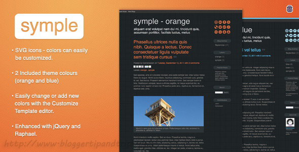 Symple Premium Blogger Template