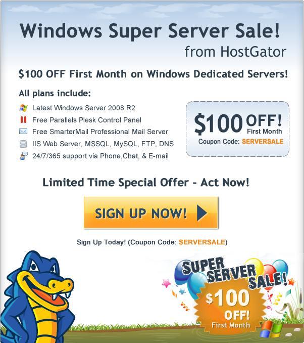 hostgator windows dedicated server