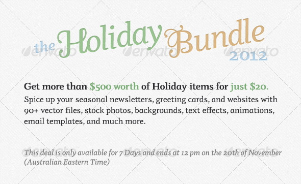 Envato Holiday Bundle 2012