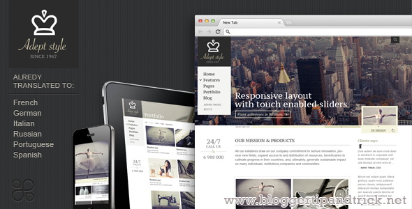 Adept Style Premium WordPress Template