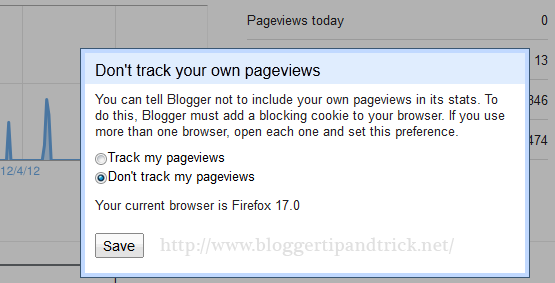 Blogger Track Pageviews
