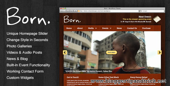 Born Premium WordPress Template