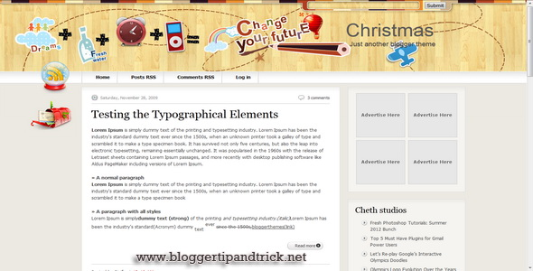 Christmas V2 Blogger Template