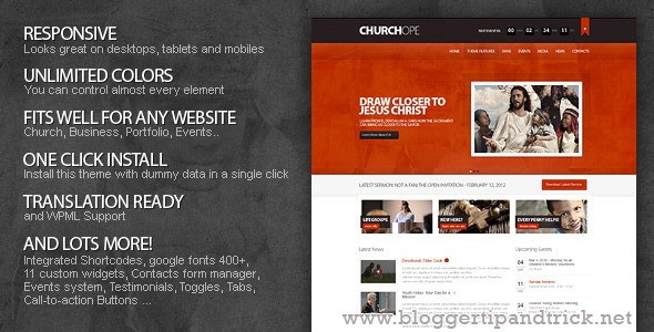 ChurcHope Premium WordPress Template