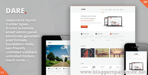 Dare Premium WordPress Template