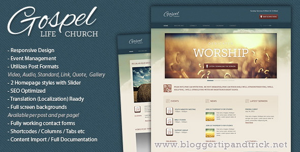Gospel Premium WordPress Template