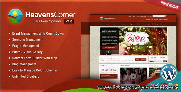 Heaven's Corner Premium WordPress Template