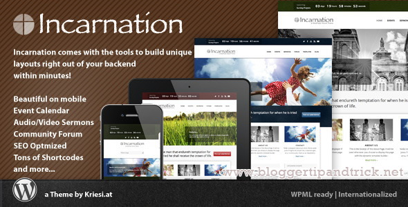 Incarnation Premium WordPress Template