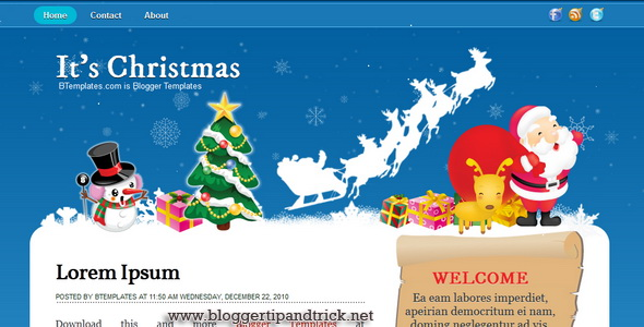It's Christmas Blogger Template
