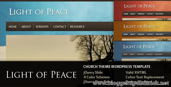 Light of Peace Premium WordPress Template