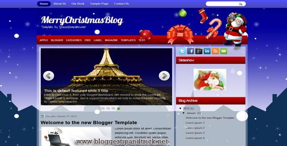MerryChristmasBlog Blogger Template
