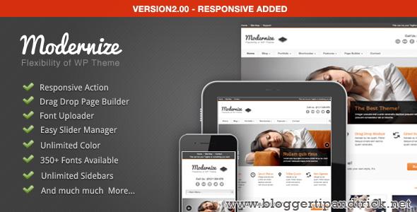 Modernize Premium WordPress Template