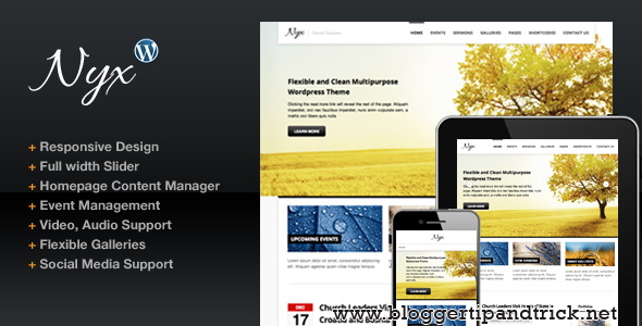 Nyx Premium WordPress Template