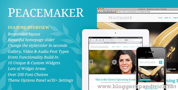 Peacemaker Premium WordPress Template