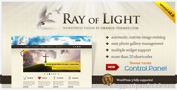 Ray Of Light Premium WordPress Template