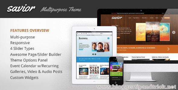 Savior Premium WordPress Template