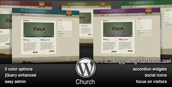 Wordpress Church Premium WordPress Template