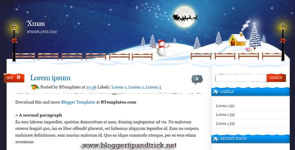 Xmas Blogger Template