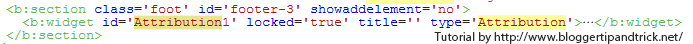 Blogger Attribution Widget - Edit HTML