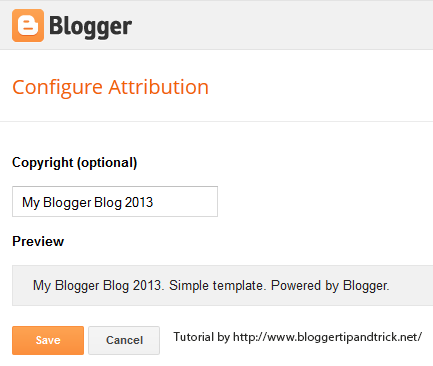 Blogger Attribution Widget Edit