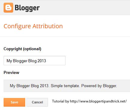 Blogger Attribution Widget Edit
