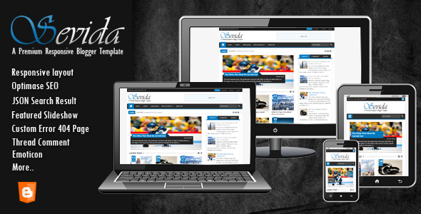 Sevida Blogger Template