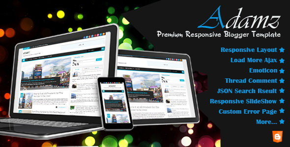 Adamz Blogger Template