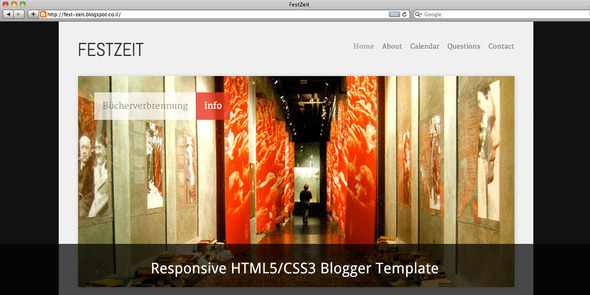 Festzeit Blogger Template