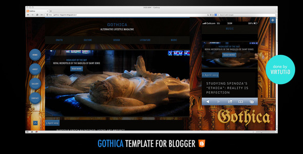 Gothica Blogger Template