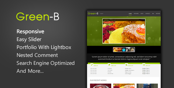 GreenB Blogger Template