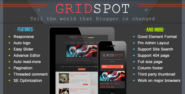 Grid Spot Blogger Template