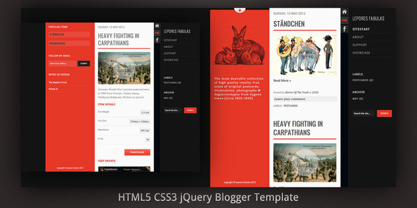 Lepores Fabulas Blogger Template