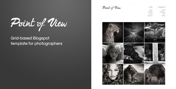 Point Of View Blogger Template