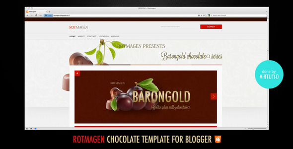 Rotmagen Blogger Template
