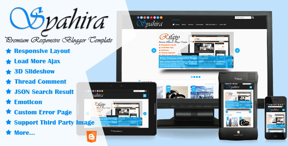 Syahira Blogger Template