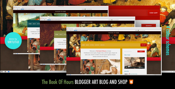The Book Of Hours Blogger Template