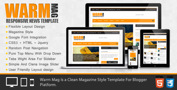WarmMag Blogger Template