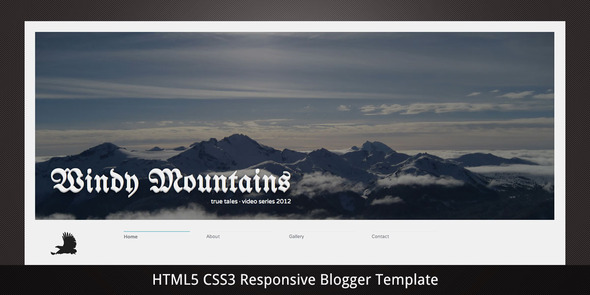 Windy Mountains Blogger Template
