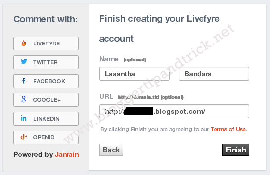 Livefyre Comments Install-Step 3