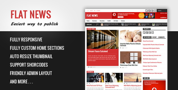 Flat News Premium Blogger Template